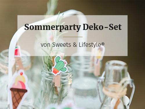 Freebie Sommerparty Deko-Set zum Selberbasteln von Sweets & Lifestyle®