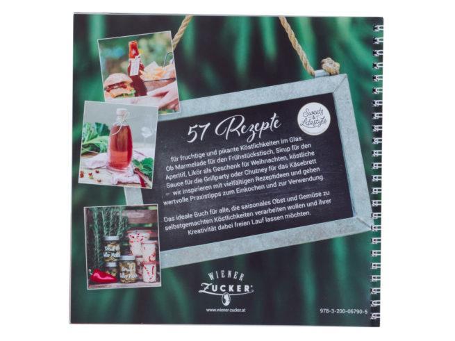 Rückseite vom Buch Einkochen Rezepte für selbstgemachte Köstlichkeiten im Glas von Verena Pelikan