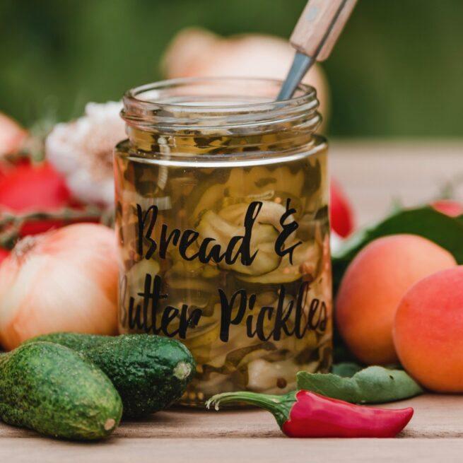 Bread & Butter Pickles als Kursinhalt beim Einkochen und Einlegen Kochkurs von Verena Pelikan im SchlossStudio im Weinviertel