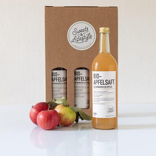 Dreier Paket Bio Apfelsaft im Geschenkkarton