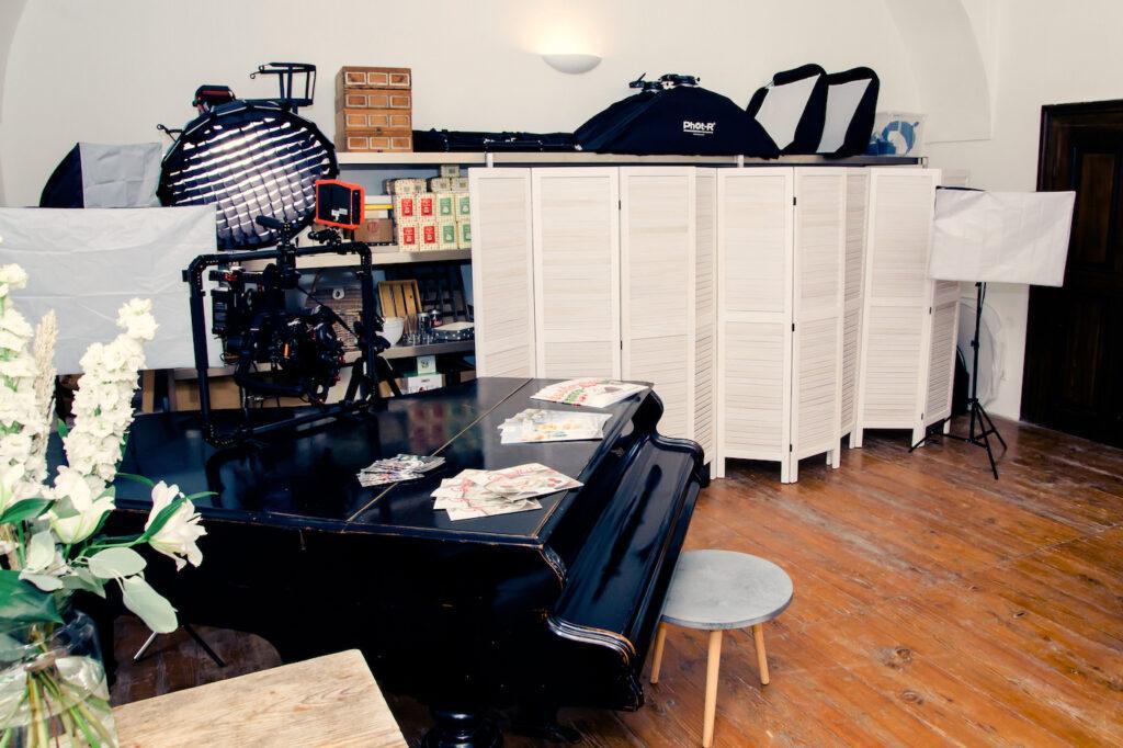 Professionell ausgestattetes Fotostudio im SchlossStudio im Schloss Coburg zu Ebenthal im Weinviertel