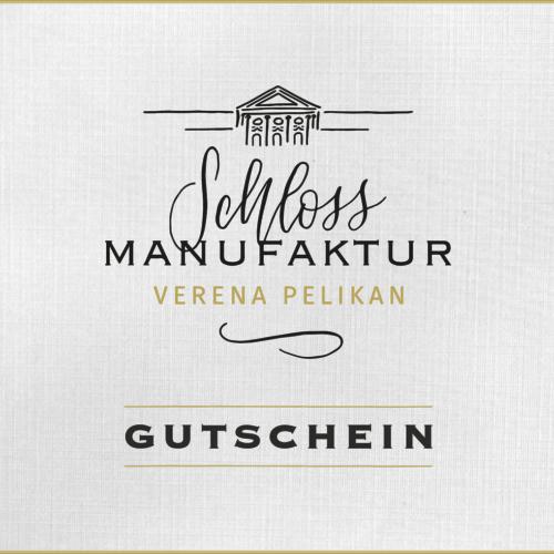 Gutschein fuer Produkte der SchlossManufaktur und der Kochkurse im SchlossStudio erhaeltlich im SchlossManufaktur Webshop