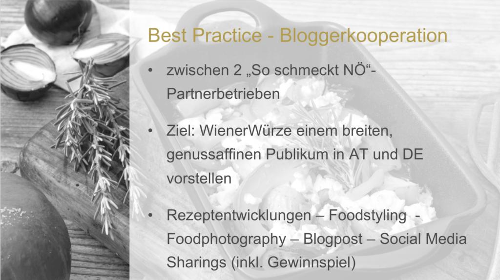 Influencer Relations Best Practice erklaert am Beispiel von der Zusammenarbeit von Wiener Wuerze und Sweets and Lifestyle von Online Marketing Expertin Verena Pelikan