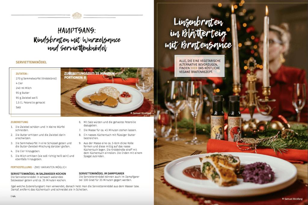 Rezepte von Verena Pelikan entwickelt von Verena Pelikan fuer den Genusskoarl den Erfinder der Wiener Wuerze im digitalen Magazin SchlossJournal