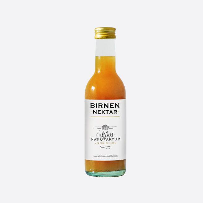 SchlossManufaktur Birnennektar erhaeltlich in der 250ml Flasche