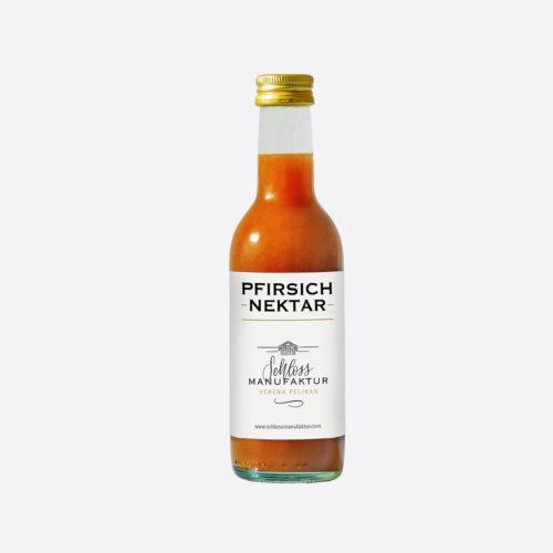 SchlossManufaktur Pfirsichnektar erhaeltlich in der 250ml Flasche