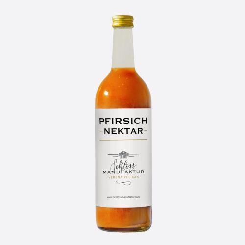 SchlossManufaktur Pfirsichnektar erhaeltlich in der 750ml Flasche