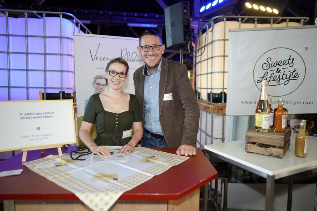Verena Pelikan als Social Media Expertin bei der 15 Jahre So schmeckt Niederoesterreich Feier in Amstetten gemeinsam mit ihrem Lebensgefaehrten Roman Kraus
