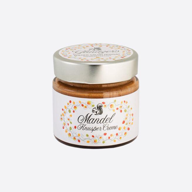 Glinitzers Wiener Salon Nougat Mandel Knusper Creme 100g in der SchlossManufaktur von Verena Pelikan