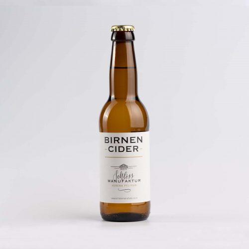 SchlossManufaktur Birnen Cider in der 330ml Flasche erhaeltlich